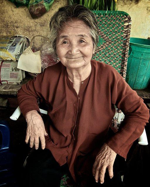 Portrait of an Elderly Lady, Ho Chi Minh City