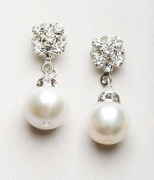 Wedding Pearl Jewelry Bridesmaid Pearl Jewelry White Ivory Rose Gold Pearl Earring Bridal Earrings Bridal Accessories Wedding Earrings