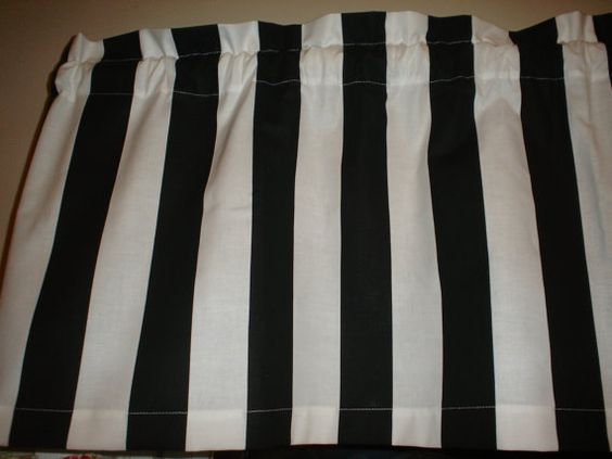 Chef Black White Stripe Window Valance Decor by valancegallery, $14.95