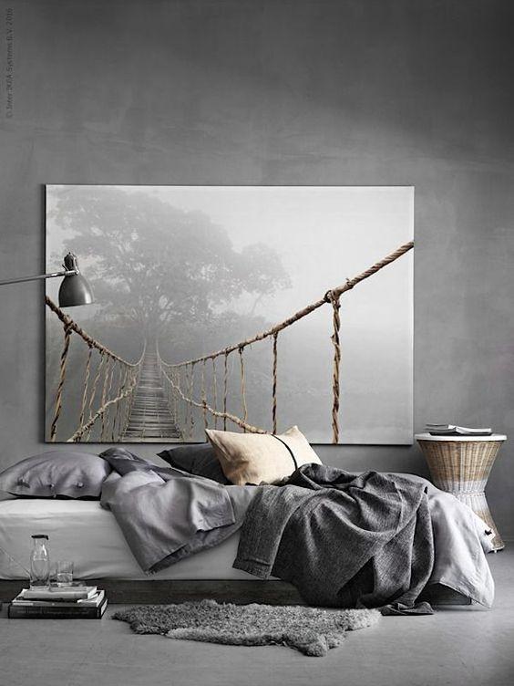 Slaapkamers, Zwart-wit and Grijs on Pinterest