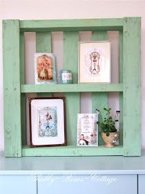 Shabby Chic Shelf - made from a pallet - Shabby Roses Cottage