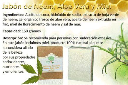 Jabón de Neem, Aloe Vera y Miel