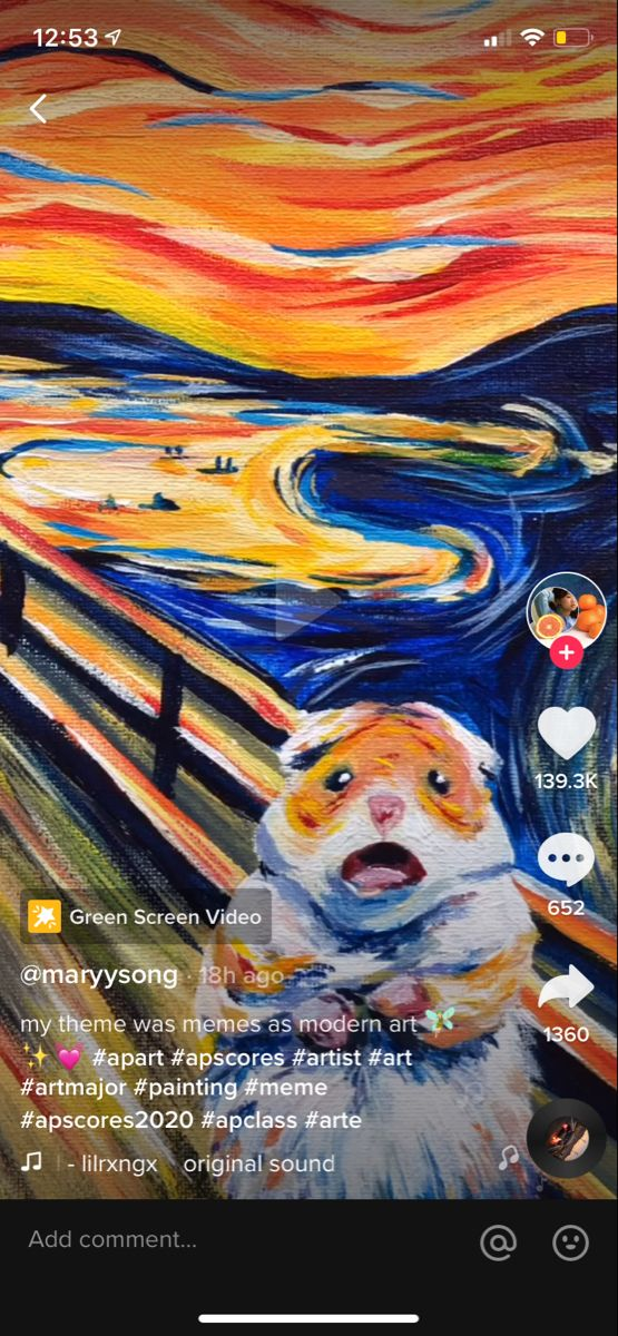 From Tiktok Hamster Art Painting Creative