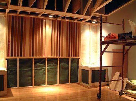 acoustic design for the home studio. Red Decibel East  Studio Pinterest Recording studio and design