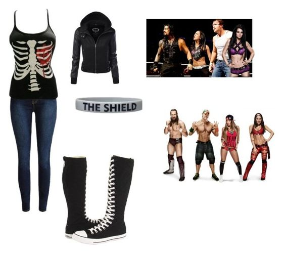 """""""the shield 2.0 vs John Nikki Brie and Daniel"""" by wwe-girl-02 ❤ liked on Polyvore featuring Converse and CENA"""