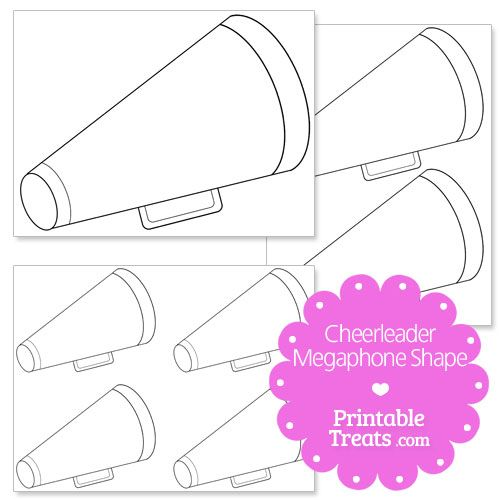 Printable Cheerleader Megaphone Shape from PrintableTreats.com