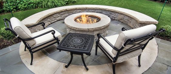 Firepit idea lower level