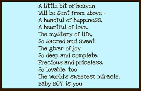 A Beautiful Poem For My Baby Boy Logan You Re All I Ve