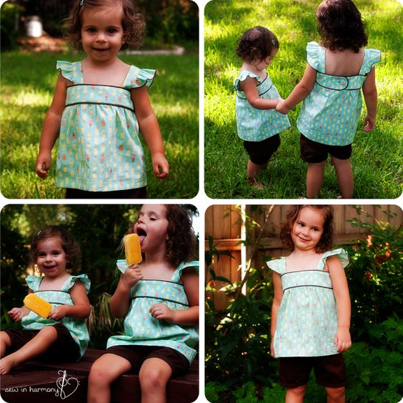 Girls Summer Shirt Tutorial