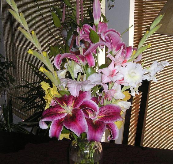 Daylilies & glads from my garden!