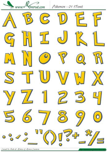 Pokemon Logo Font Generator