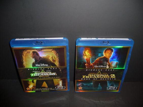 National Treasure 1 & 2 Blu-Ray Lot Disney  Nicolas Cage