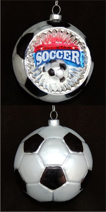 Soccer Reflector Personalized Sports Ornament