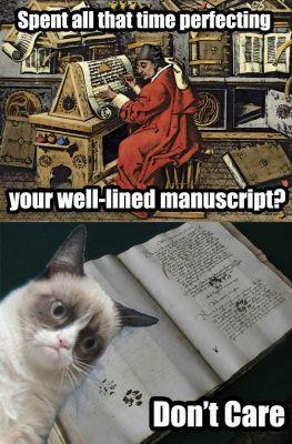 The Medieval Grumpy Cat.