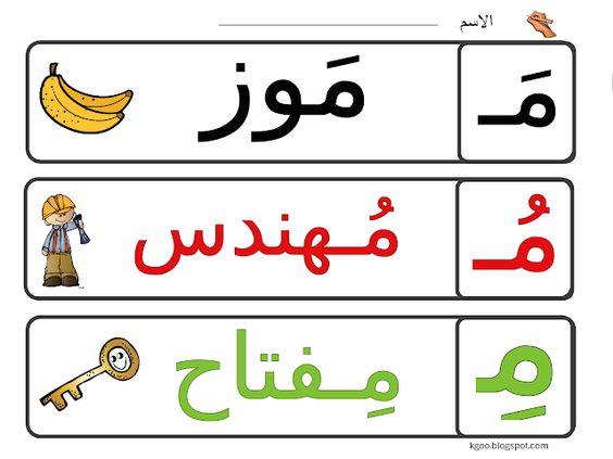 نشاط حرف الميم للاطفال Learnarabicalphabet Teacher Kindergarten Kids Arabic Alphabet For Kids Printable Journal Cards Arabic Lessons