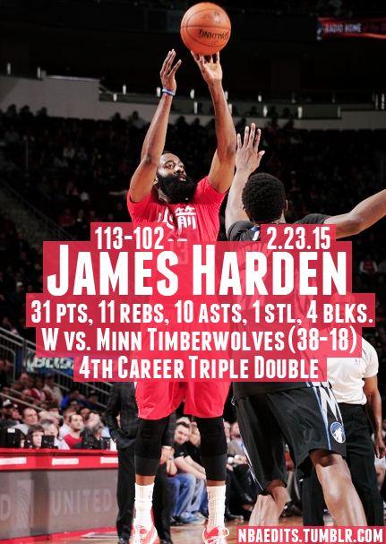 James Harden - 2.23.15 - W vs. Minnesota Timberwolves - http://nbafunnymeme.com/nba-best-players-of-the-day/james-harden-2-23-15-w-vs-minnesota-timberwolves-2