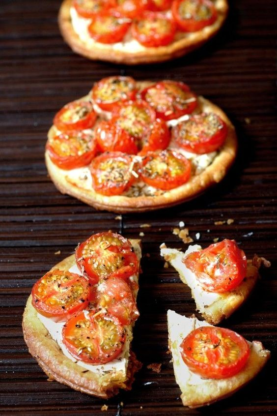 Tartelettes aux tomates cerises et au chèvre