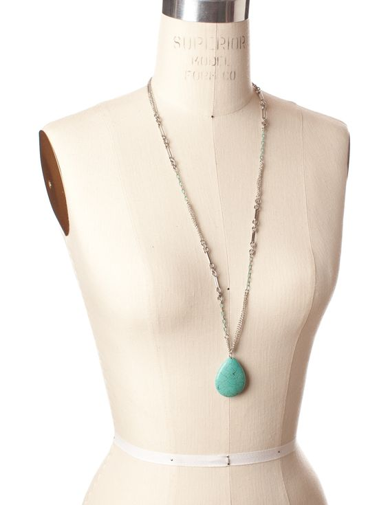 Turquoise Teardrop Pendant - Women's jewelry - The Limited