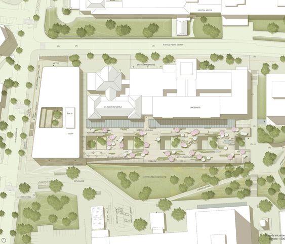Imagen 4 de 7 de la galería de gmp gana el concurso para diseñar un Hospital de Niños en Suiza. Emplazamiento. Imagen © Hager Planer AG, Zürich