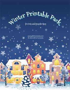 To keep the kids entertained now christmas is over ....a Winter Printable Pack!
