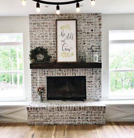 Farmhouse Fireplace Brick Floors 64 New Ideas Farmhouse In 2020