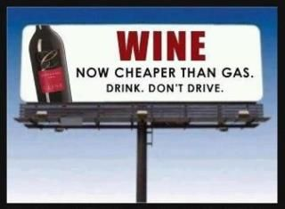 Wine Now Cheaper Than Gas