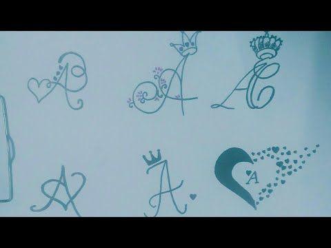 سته طرق لرسم حرف A بطريقة بسيطه ورؤؤؤعه How To Draw A Letter In Six Ways Youtube Lettering Drawings Art