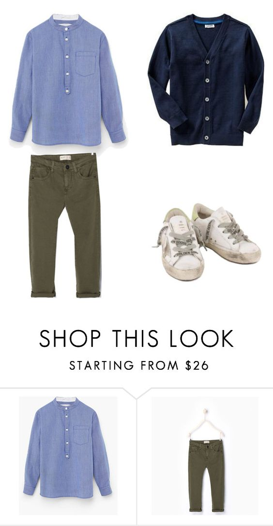 """Blue Collarless Shirt"" by boyswardrobe ❤ liked on Polyvore featuring Zara, Old Navy, men's fashion and menswear"