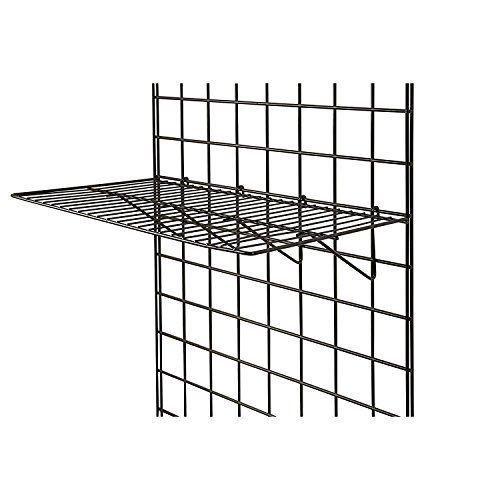 Only Garment Racks Blk 2412 Grid Panel Display Shelf Clothing Display Rack Grid Heavy Duty Shelves 12 Qu Grid Panel Display Shelves Clothing Rack Display