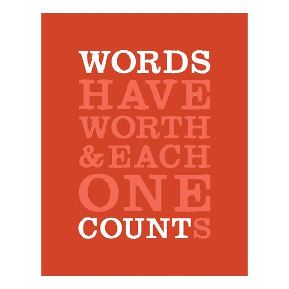 Word's Worth Print.