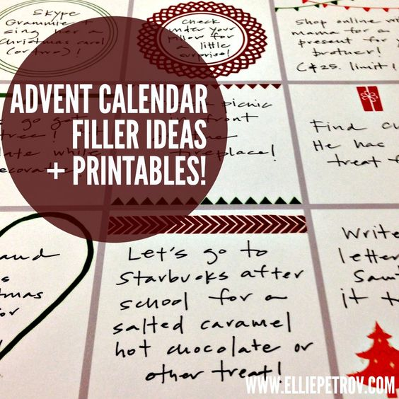 Advent Calendar Ideas Religious : Advent calendar filler ideas and printables