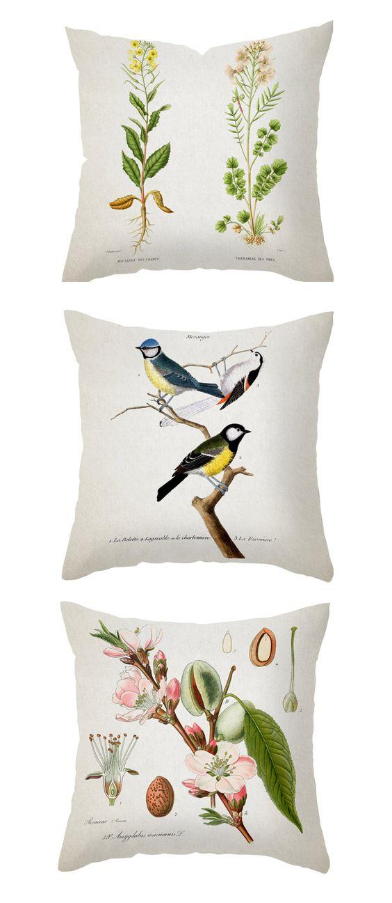 Botanical pillows: