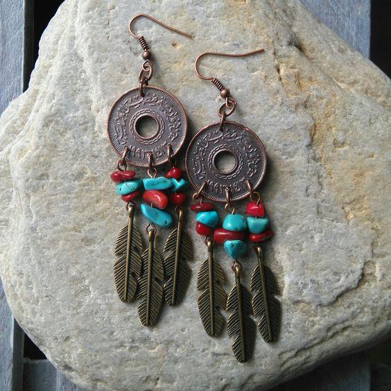 #oorbellen #earrings #boho #bohemian #ibizastyle #ibiza #koraal #coral #veren…