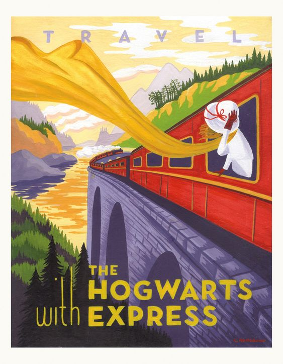 These Harry Potter travel posters are pretty cool!