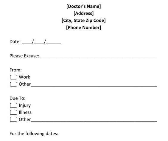 Getting out of Jury Duty and Work with a Doctoru0027s Note Jury duty - doctors note template