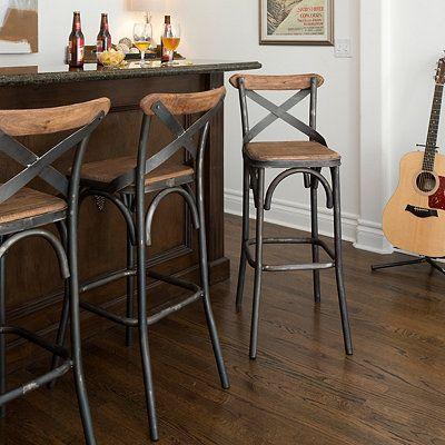 Kirkland S Rustic Bar Stools Farmhouse Bar Stools Iron Bar Stools