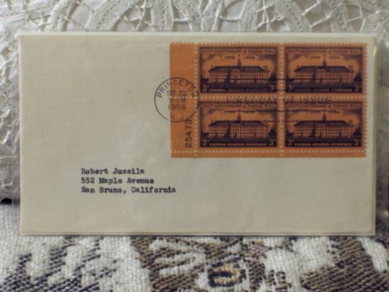 http://ajunkeeshoppe.blogspot.com/  First Day Issue/Cover-Stamp-200th Ann. Nassau Hall 1956 8ozP724B4HP1145