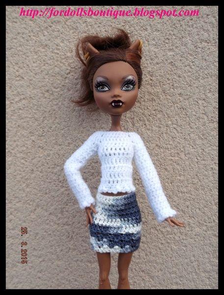 Jersey y falda para Monster High  de mamimonster por DaWanda.com