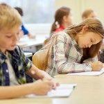 Children sitting NAPLAN practice tests