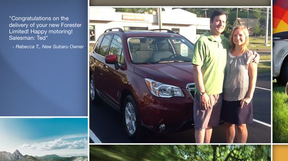 Dear Rebecca Truscio   A heartfelt thank you for the purchase of your new Subaru from all of us at Premier Subaru.   We're proud to have you as part of the Subaru Family.