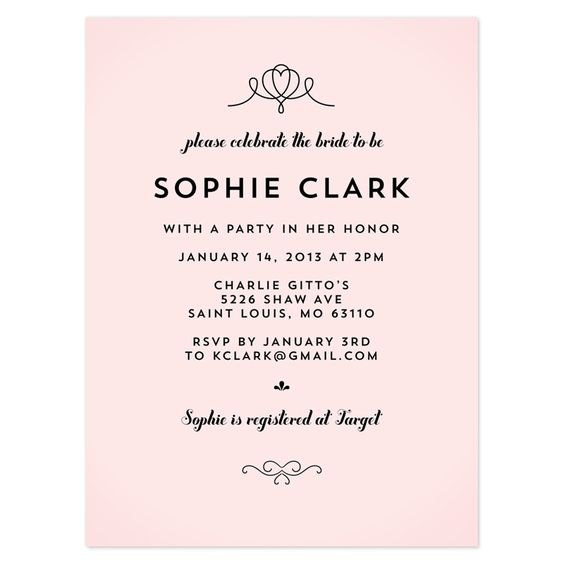 bridal shower invitation crafty pie press sample wedding shower – Examples of Wedding Shower Invitations