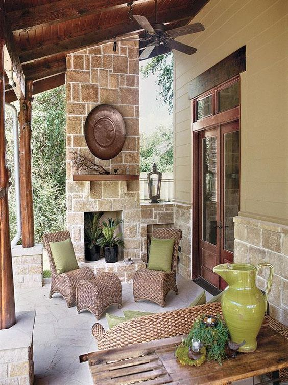 Pinterest the world s catalog of ideas for Back porch ideas for ranch style homes