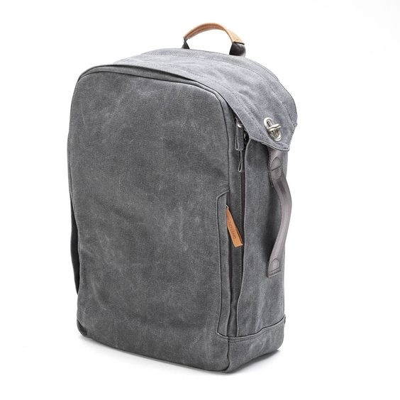 QWSTION Washed Grey Backpack $225