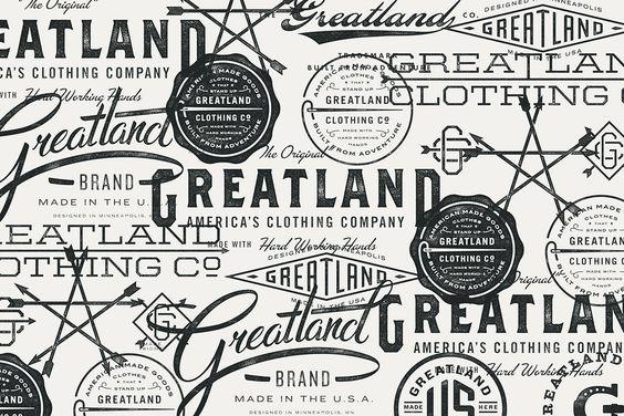 Greatland, cuja a identidade foi inspirada no branding dos anos 20 e 30, onde as marcas não apresentavam um único logotipo, mas umaúnica estética e comunicação visual