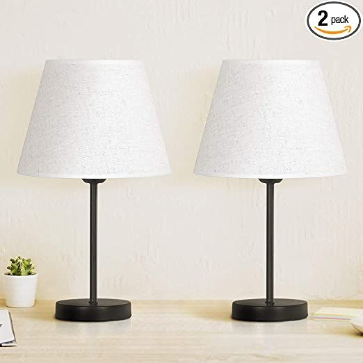 Bedside Table Lamp Set Of 2 Modern Table Lamps Classic Nightstand Table Lamps For Bedrooms Living Room C In 2021 Modern Table Lamp Table Lamps For Bedroom Lamp Sets