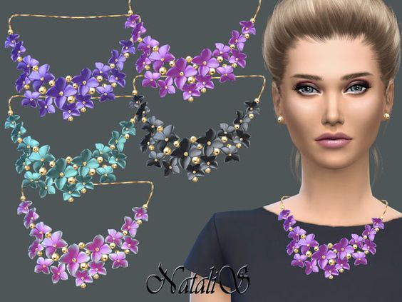 Sims 4 CC's - The Best: NataliS_Massive flower necklace