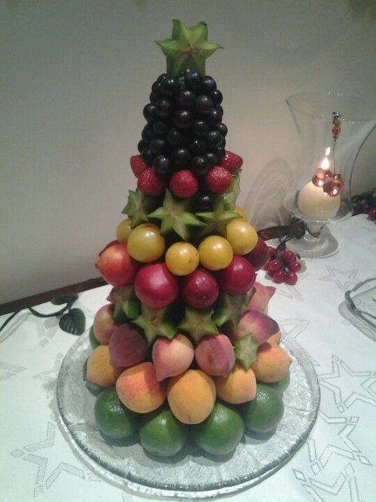 arvore de natal de frutas!