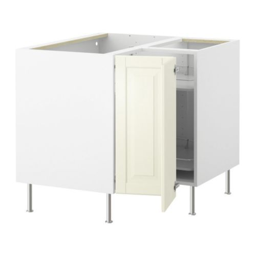 FAKTUM Corner base cabinet with carousel - Lidingö off-white - IKEA
