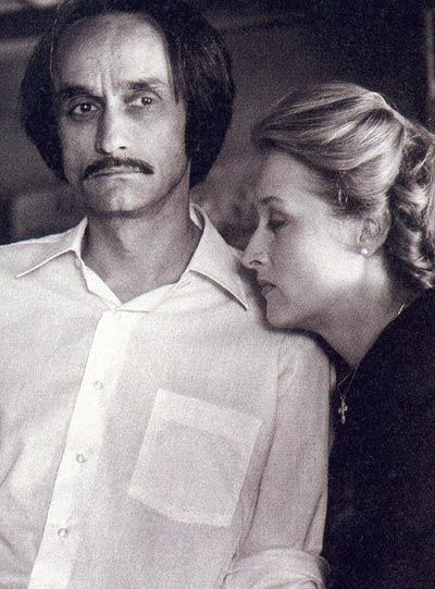 """With fiance John Cazale in 1978... """"I've hardly ever seen a person so devoted to someone who is falling away like John was,"""" said Al Pacino. """"To see her in the act of love for this man was overwhelming."""""""