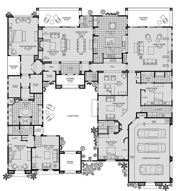 Loving This Open Concept By Tollbrothers: Toll Brothers - Cholla - Floor Plan